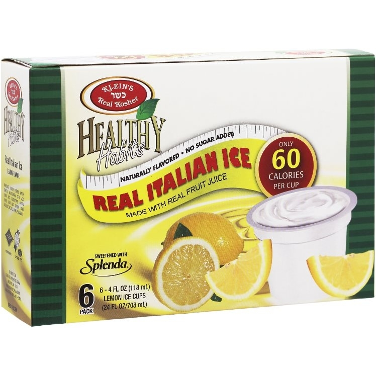 Healthy Habits Lemon Italian Ices | Klein's Ice Cream